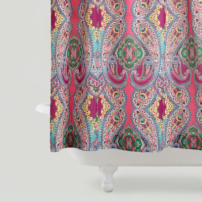 Curtains Ideas cost plus curtains : Guest Picks: Add Some Color to Your Cool Summer Shower