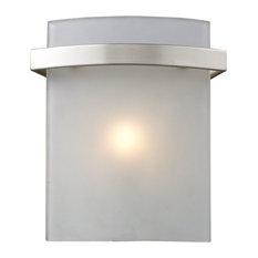 Elk Briston 11280/1 1 Light Wall Vanity Light, Satin Nickel