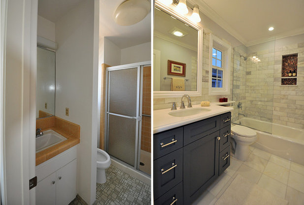 5 ways with an 8 by 5 foot bathroom for Bathroom remodel 70 square feet