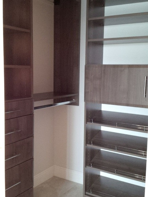 Hudson Cherry Wall Mounted Closet Systems