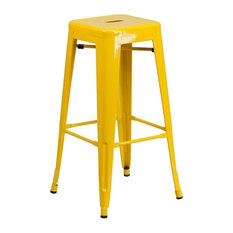 Flash Furniture   Backless Metal Indoor/Outdoor Bar Stool With Square Seat,  30u0027