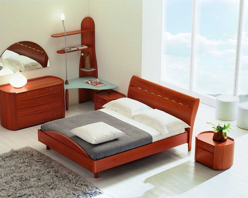 Made in Italy Wood Design Bedroom Furniture with Storage System - Beds