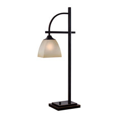 Kenroy Home 32290ORB Arch 1 Light Gooseneck Table Lamp - Bronze