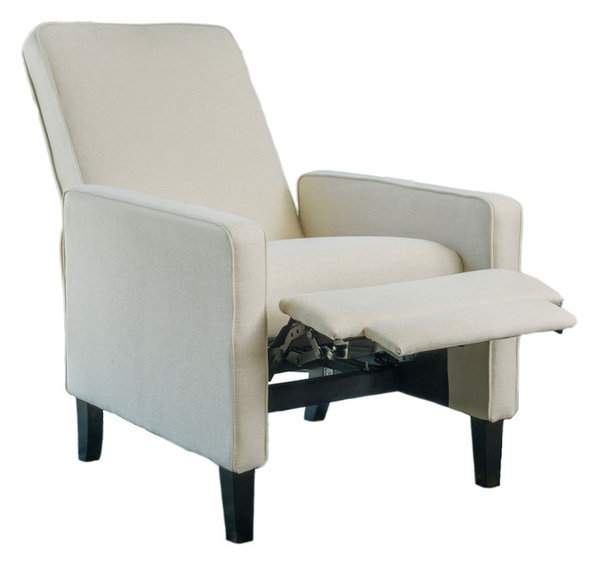 Olirdy Fabric Recliner Chair, Beige