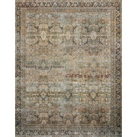 "Olive Charcoal Layla Printed Area Rug by Loloi II, 9'-0""x12'-0"""