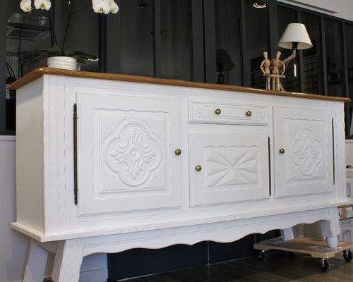 relooking de meubles de salle manger de style basque. Black Bedroom Furniture Sets. Home Design Ideas