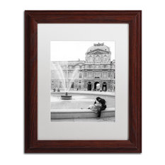 """Paris Kiss"" Framed Art by Yale Gurney, Wood, White, 11""x14"""
