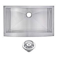 Zero Radius Single Bowl Apron Front Kitchen Sink With Drain And Strainer
