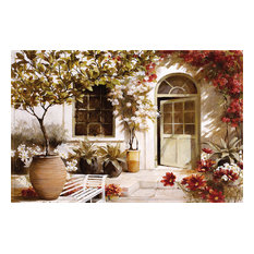 Mediterranean Garden Gallery Door Mat, Small