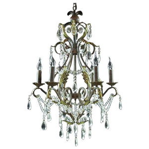 Iron and Crystal Pendant Lamp