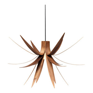 Iris Pendant Light, Large, Walnut Veneer