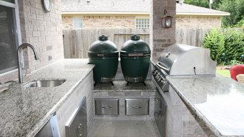 Примеры барбекю зон в загородном доме