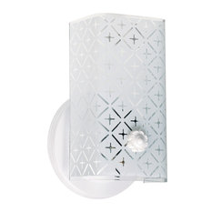 nuvo lighting 1 light 7 vanity with diamond u channel glass bathroom vanity lighting 7