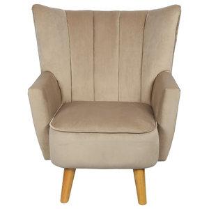Florence Brushed Velvet Armchair, Mink