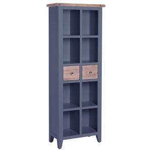 2-Drawer Bookcase, Dark Grey