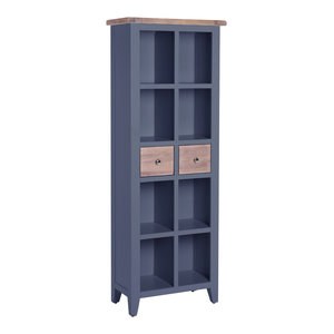 2-Drawer Bookcase, Dark Grey
