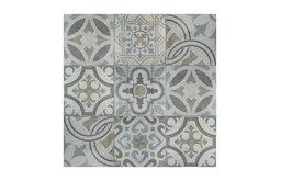 "13.13""x13.13"" Asturias Decor Jet Ceramic Floor and Wall Tiles, Set of 9, Mix"
