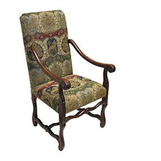 Design Toscano   Hand Carved Solid Mahogany French Antique Replica Arm Chair    Armchairs And