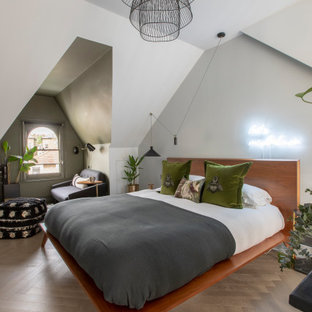 Photo of a contemporary bedroom in Other.