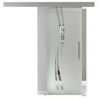 2x Full Lite MDF Sliding Barn Door White with-glass-insert - ONE TIME LISTING