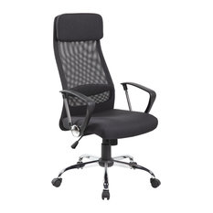 uoc highback executive meshfabric office chair with adjustable headrest black