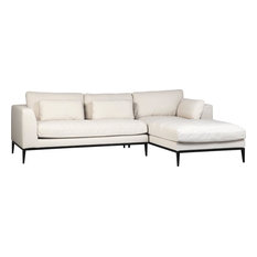 Sofa DOVETAIL RAVIGO L-Shape Black Broken