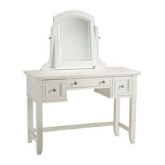 Home Styles Naples Vanity Table in White Finish