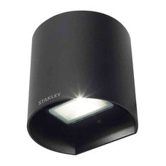 Stanley Tronto Outdoor LED Round Up and Down Wall Light, Black