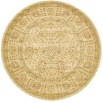 Unique Loom - Unique Loom Edinburgh Adel, Cream, 6'x6', Round - The classic look of the Edinburgh Collection is sure to lend a dignified atmosphere to your home. With an array of colors and patterns to choose from, there�s a rug to suit almost any taste in this collection. This Edinburgh rug will tie your home�s decor together with class and amazing style.