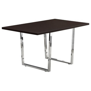 """Monarch 59"""" Metal Dining Table, Cappuccino"""