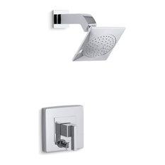 Kohler Loure Rite-Temp Shower Trim with Diverter, Polished Chrome