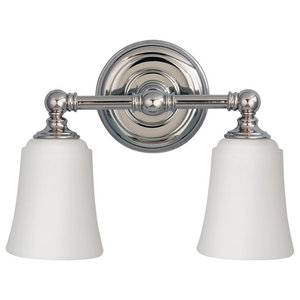 2-Light Above Mirror Light, Polished Chrome