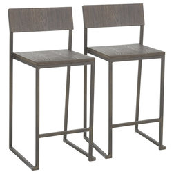 Industrial Bar Stools And Counter Stools by LumiSource