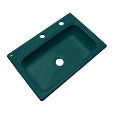 Clemente 2-Hole Kitchen Sink, Teal