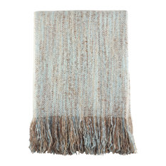 "FauxMohair Shabby Chic Throw Blanket, 50""x60"", Aqua"