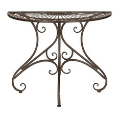 safavieh safavieh annalise outdoor accent table rustic brown outdoor side tables - Outdoor Accent Tables