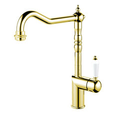 Classic Kitchen Mixer Tap, Brass-Coloured Stainless Steel
