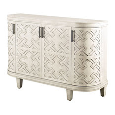 Wood Cabinet With Off White Finish 67628