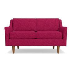 """Sutton Apartment Size Sofa, Pink Lemonade, 68.5""""x36""""x32"""""""