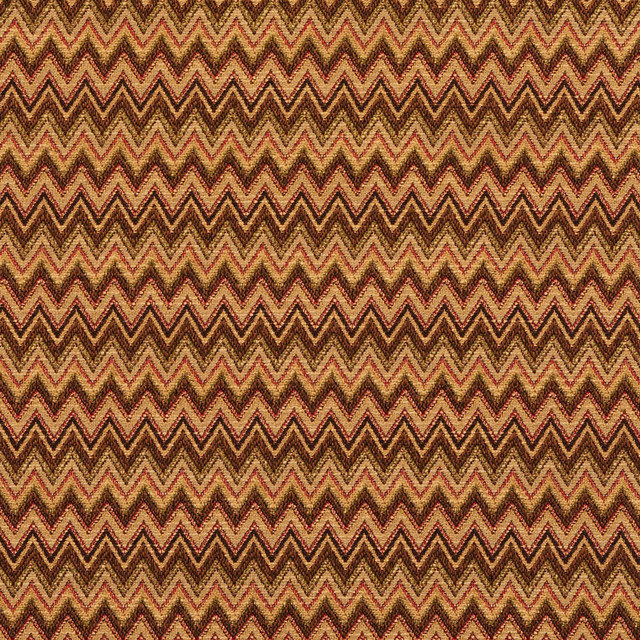 Chevron Flame Stitch Designer Upholstery Fabric By The Yard