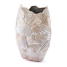 Zuo Decor Ceramic Vase, Pearl
