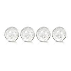 "3"" Crystal Decorative Ball, Bubbles Design, Set of 4"