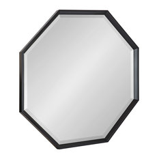 Calter Framed Large Octagon Wall Mirror, Black 31.5x31.5