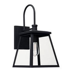 Capital Lighting 926812BK One Light Outdoor Wall Lantern Belmore Black