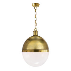 Thomas O'Brien Hicks 2 Light Pendant in Hand-Rubbed Antique Brass
