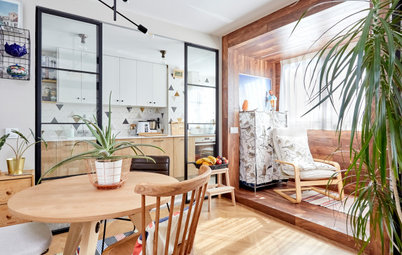 Houzz Tour: A Narrow Flat Reworked to Create an Open, Airy Home