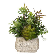 Artificial Succulent Variety in Stone Pot