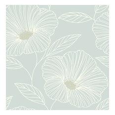 Mythic Seafoam Floral Wallpaper Bolt