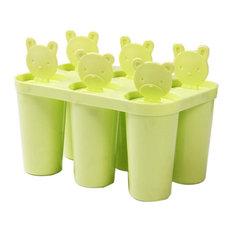 Homemade Ice Pop Molds Frozen Popsicle Ice Cream Mold 6 Lattices Round,Green
