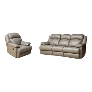 Marvelous Abbyson Living Lexington 2 Piece Reclining Sofa And Chair Machost Co Dining Chair Design Ideas Machostcouk